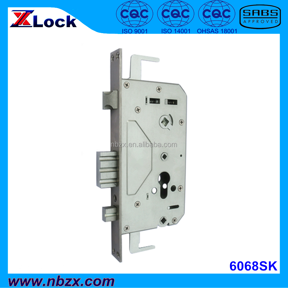6068 Standard Lock Body for Security Entrance Door, with Stainless Steel Bolts