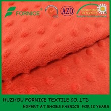 China factory polyester luxury soft minky fabric & minky dot fabric for baby blanket and toy