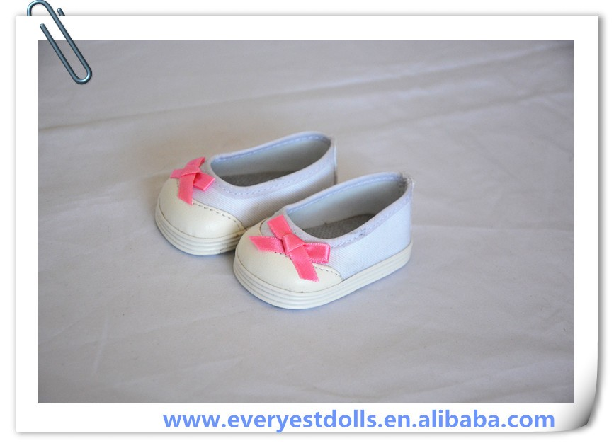 Wholesale 18 inch American Girl Doll Shoes for Summer White Shoes Doll clothing