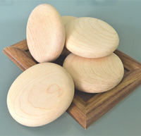 Smooth Maple Round Wooden Pebbles Blocks Perfect for Arts & Crafts