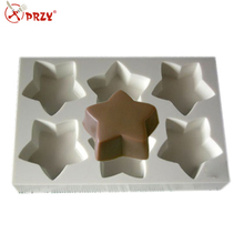 S4291 Star shape soap tray mold silicone molds for soap making handmade soap loaf mold