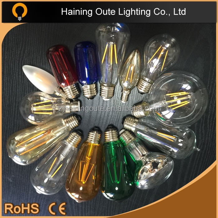 warehouse use 2W 4W 6W 8W led filament G80 G95 G125 bulb,c35 G80 G95 G125 LED filament lamp E27 B22 dimmable