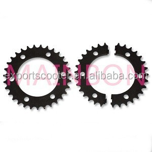 Auto rickshaw spare parts 530-33T double gear with two parts seperated gear