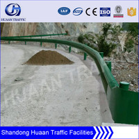 plastic spray steel country road crash barrier