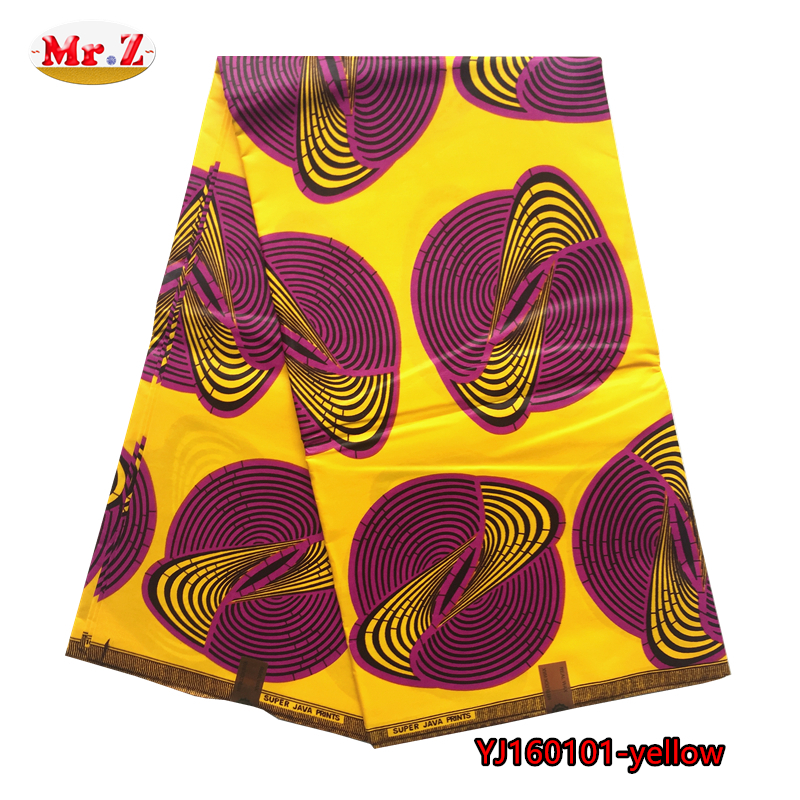 2016 yellow super java africa wax material