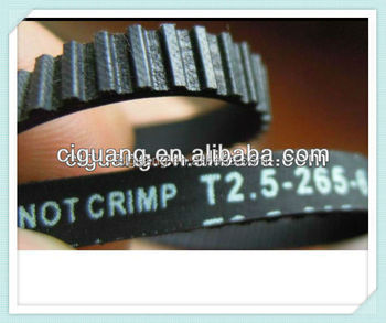 T2.5 rubber timing belts made in china