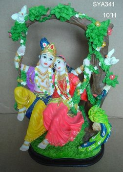 Polyresin Indian God Figurine, Hindu god Statue (Rodha Krishna)