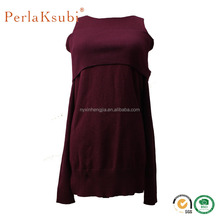 latest design fashion sexy woolen pullover cut off long sleeve ladies sweater dress