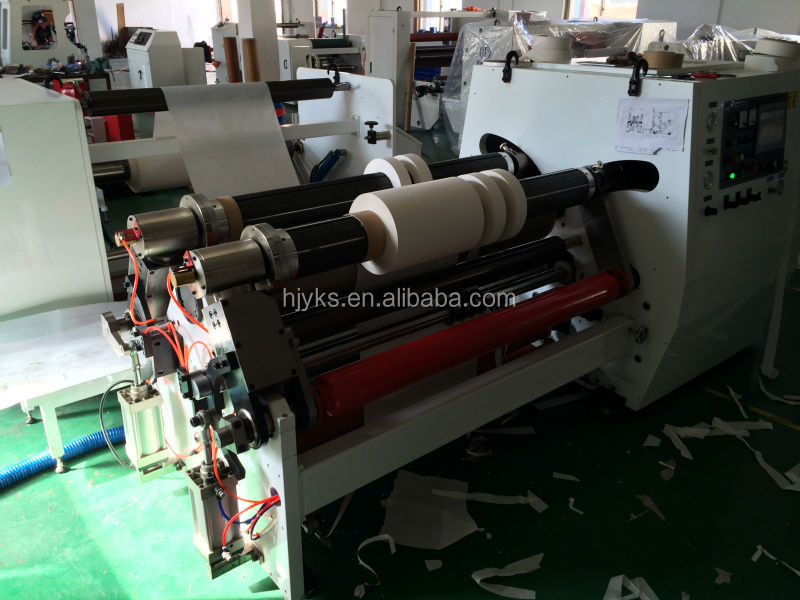HJY-FQ12 high speed& best prcie automatic with disc blades jumbo roll cutting machine