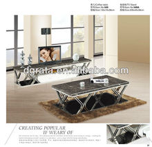 2013 hot sale stone TV cabinet set is used stone and chrome for living house furniture suite