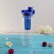 2017 Amazon promotional custom logo food grade 750ml plastic drinking infuser water bottle for Yoga
