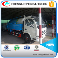 DONGFENG 4*2 3000L High Pressure Water Clean with Vacuum Sewage Suction Truck