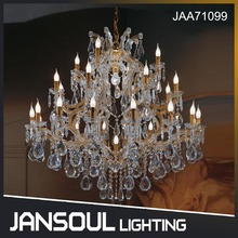 JANSOUL retrospective candle lamp hanging vintage golden moroccan lamp crystal chandelier