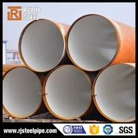 high quality 3 PE/3LPE/FBE coated steel pipe/anti-corrosion 3PE layer oil and natural gas pipeline steel pipe