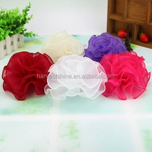 18 cm large size artificial chiffon flower,tissue fabric flowers for wedding dresses