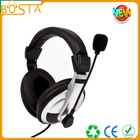 thick protein belt computer headsets/rotate microphone flexible gaming headset/long wire use comfortable headsets