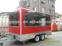 Mobile Fast Food Mobile Camp Kitchen Trailer With Customized Windows