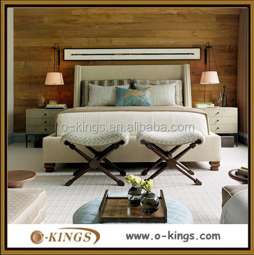 Custom made heavy wood bedroom furniture