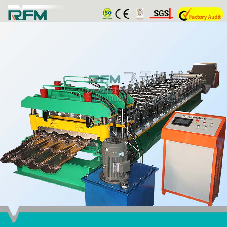 Mobile House Colorful Steel Glazed Tile Roll Forming Machine