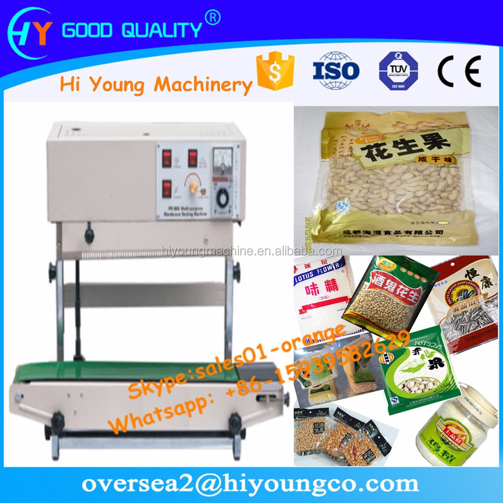 Hot sealing machine for plastic and film / Vertical continuous film sealing machine