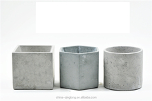 round square and other shaped of small ash cement pot
