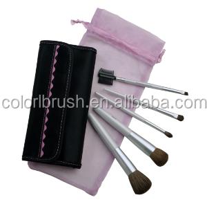 pink 5pcs makeup brush set synthetic cosmetic brush set synthetic makeup brush set with cute bag