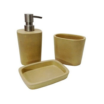 Brass brown cheap concrete/cement bathroom accessories set