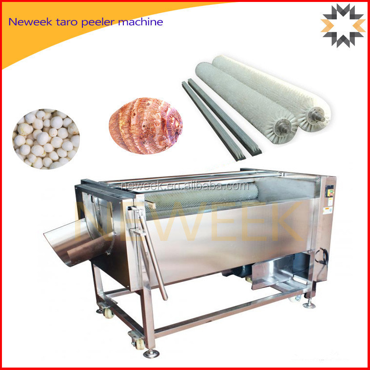 Neweek automatic discharging brush peanut washing taro peeler machine