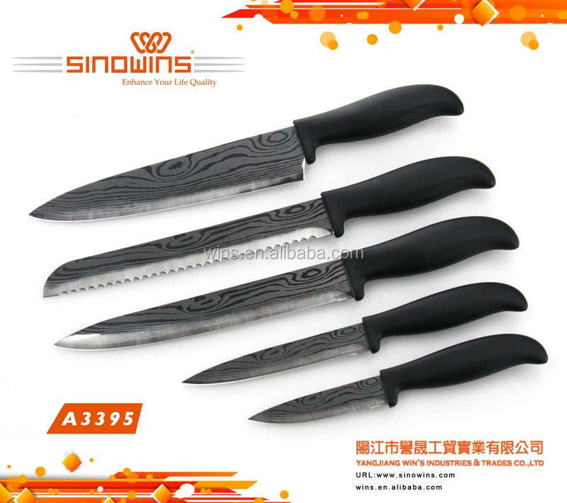 Double bolster handles of Kitchen knife set