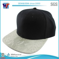 Wholesale custom snapback cap blank material for flexfit blank hats