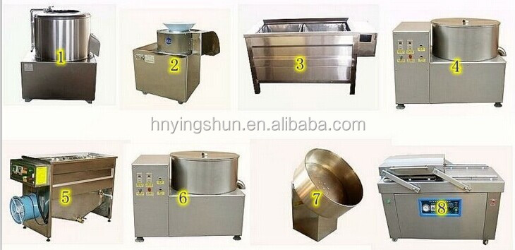 Best selling semi-automatic potato chips production line