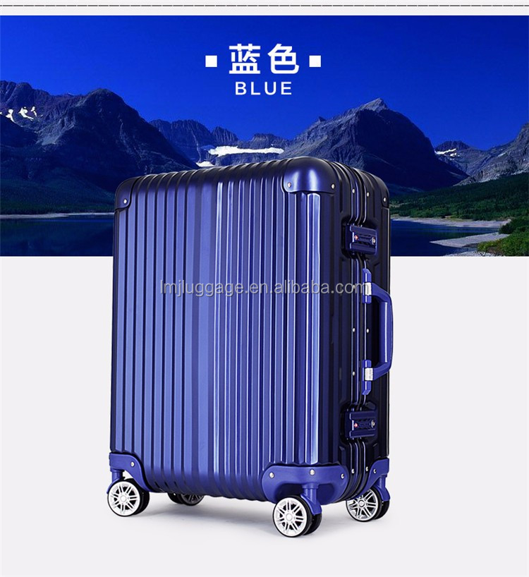 factory manufacturer men and women travel luggage case ,Aluminum traveling box high quality wholesale/airport luggage trolley/al