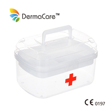High Quality Portable Plastic Medical First Aid Kit Box / Case For Workplace ,Home ,Car