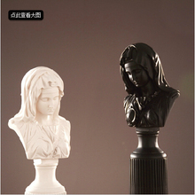 Custom European Style Female Bust Statue For Home Decoration
