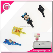 silicone mobile for iphone dust plug girl custom cell phone jack plug