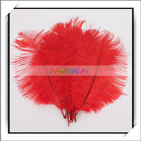 Wholesale Artificial Colored Ostrich Feathers Red -13010433