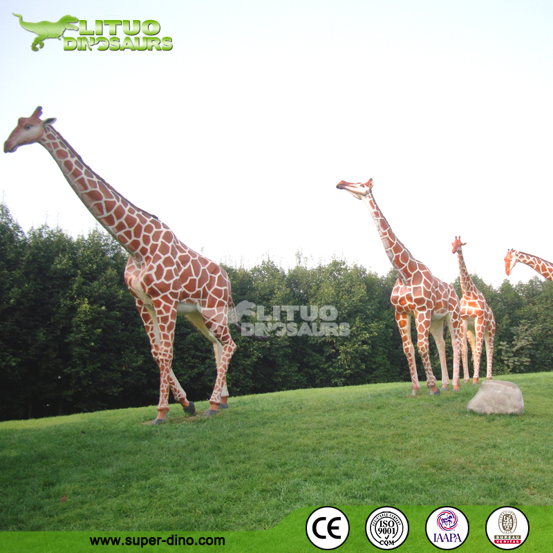 Animatronic Life-size Animals Giraffe Model