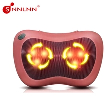 Neck massager roller,sleeping hot stone massage set pillow