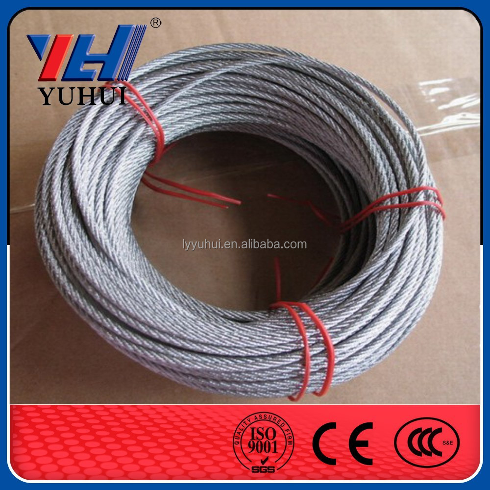 Steel Wire Rope, Made of Ungalvanized, Used for Elevator, Crane Lifting and Hanging Basket