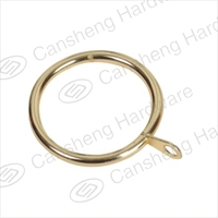 CS-K001 simple curtain accessories metal electroplated rings