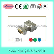 high quality gold plated nickel shell hdb 15p vga plug to 3 rca rgb jack vga to rca