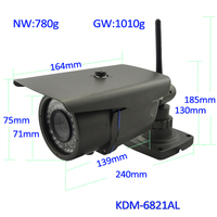 2.0Megapixel IP WIFI AUDIO P2P Waterproof network POE Camera(1080P)