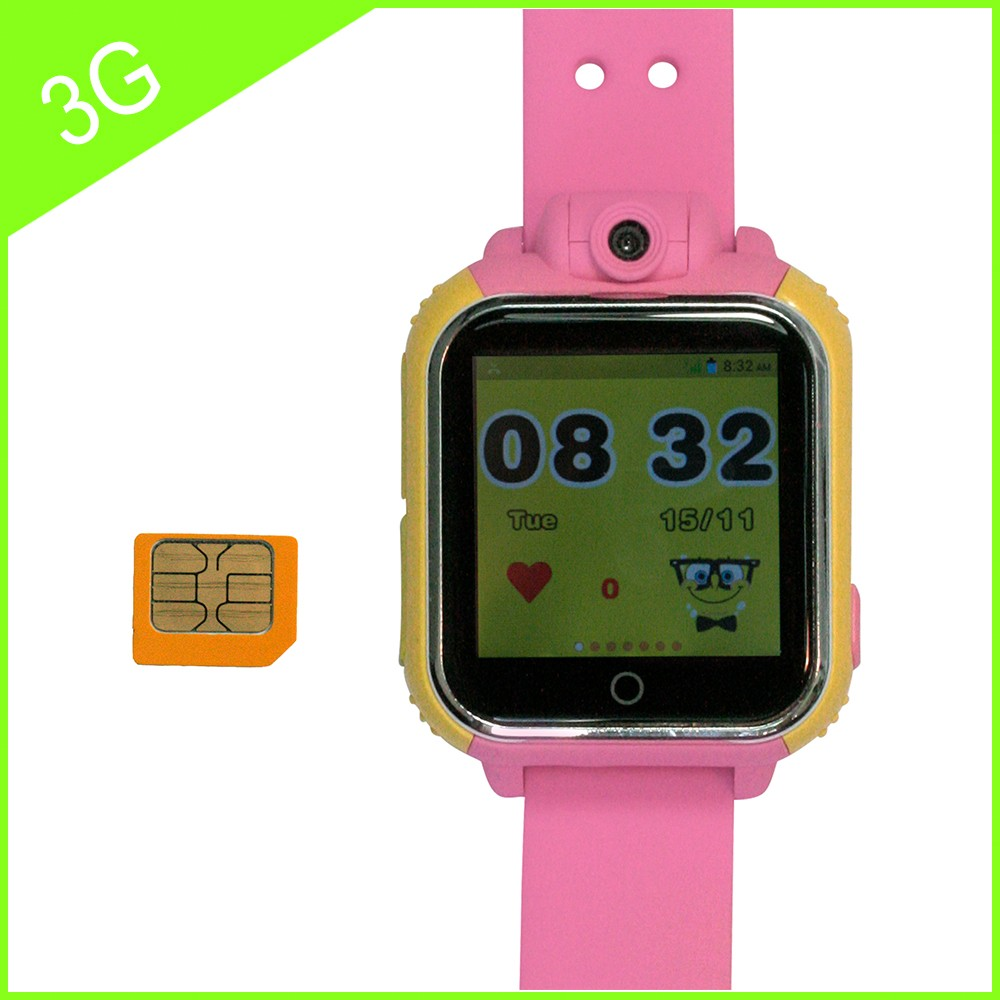 3g child gps tracker / wrist watch gps tracking device with Camera