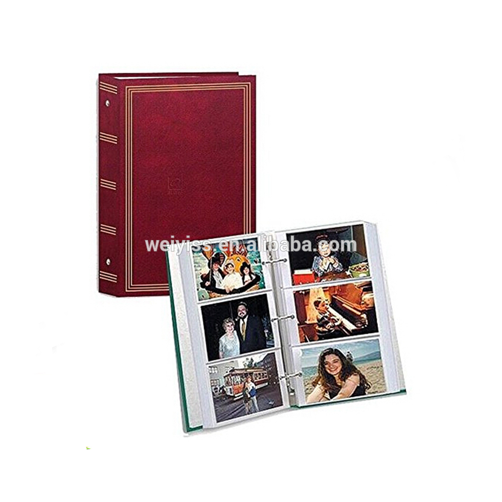 3-Binder pocket Album leather 504 photos Album china supplier