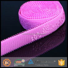 OEM acceptable cheap custom durable elastic crochet ribbon rolls