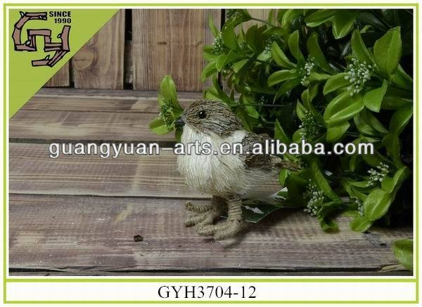 Lovely natural material artificial decorative bird