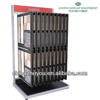 Customized Metal wood flooring sample boards display shelf