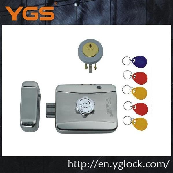 Electric security remote control aluminum door lock