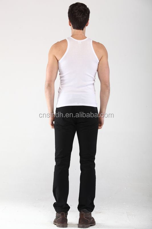 Custom 100%Cotton fitness tank top,100%Cotton GYM tank top