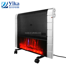 Portable panel mica 1200W electric room convection heater with flame